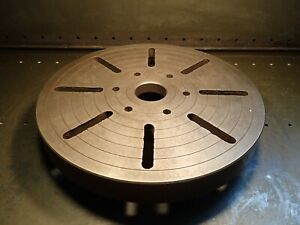 16 1 4 Od 410mm Slotted Lathe Face Plate D1 6 Camlock Spindle Hub Used