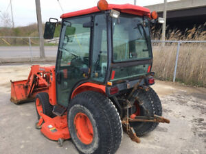 2010 Kubota B3030 4x4 Hydro Compact Tractor W Cab Loader 60 Mower 1200hrs