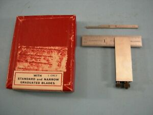 Starrett No 453c Die Makers Square Set Complete Tool Maker Machinist