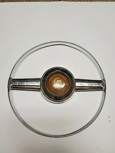 1950 Plymouth Steering Wheel Horn Button Chrome Ring 1949