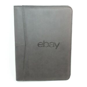 Ebay Leeds Black Faux Leather Executive Office Pro Planner Portfolio Organizer