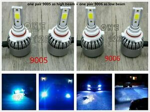 9005 9006 Combo Led Headlight Bulb Kit High Low Beam Super Bright 8000k Ice Blue