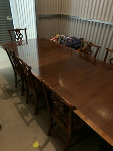 Fine Furniture Dining Room Set With 8 Chairs 116 Table