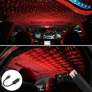 Usb Car Interior Roof Atmosphere Starrry Sky Lamp Star Light Led Projector Red