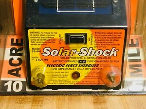 Solar powered 5 Mile Medium duty Electric Fence Energizer 4 Solar Shock