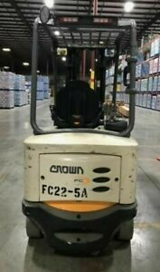 2016 Crown Electric Fork Lift Fc 5245 60 6000lb Capacity
