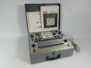 Eico 667 Vintage Dynamic Tube Tester W Manual beautiful Condition
