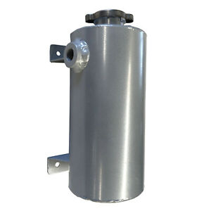 Aluminum Expansion Fill Tank Universal 1 5 Qt Round Style Silver