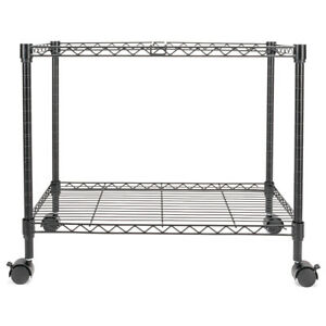 Single Tier Metal Rolling Mobile File Wide Cart Storageorganizer Office Supplies