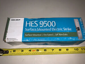 new Hes 9500 Series 9500 630 Surface Mounted 3 4 Rim Exit Electric Strike Nib