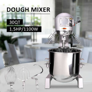 1 5hp 1100w 3 Speed 30 Quart Commercial Dough Food Mixer Multifunction Blender