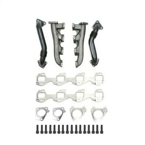 High Flow Exhaust Manifold Up Pipe Kit For 01 16 Gmc Chevy 6 6l Duramax Diesel