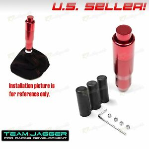 Fit Acura Honda M12 M8 M10 Automatic Gear Stick Shift Knob Lever Push Button Red