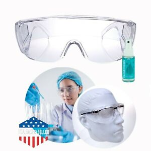 2 Pair Safety Protective Lab Glasses Eye Protection Chemistry Laboratory Goggles