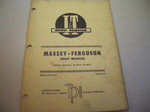 It Shop Manual Massey ferguson Mf 37 Models Mf205 Mf210 Mf220 1981 Box J3
