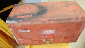 Vintage Snap on Tools 9 Drawer Tool Box Top Chest Red Industrial Grade