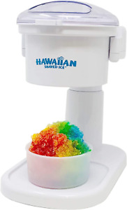 Hawaiian Shaved Ice Kid friendly Snow Cone Machine 120v White