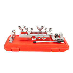 Flaring Swaging Tool Kit Extrusion Type Od Soft Copper Tube Cutter 1 8 3 4