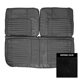 Pui 1970 Dodge Charger Rt 500 Black Front Bench Seat Cover 70ksa10b