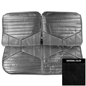 Pui 1970 Oldmobile Cutlass s Black Front Bench Seat Cover 70cs10b2