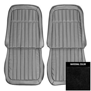 Pui 1969 Chevrolet Camaro Deluxe Black Front Bucket Seat Covers 69ds10us