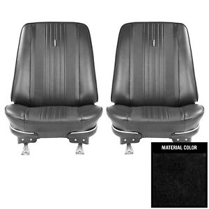 Pui 1970 Chevrolet Chevelle Black Front Bucket Seat Covers 70as10u