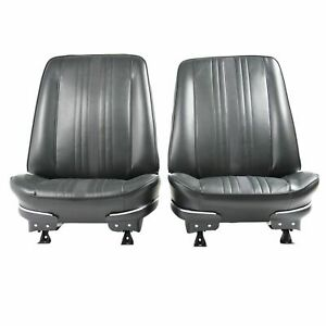 1969 1971 Chevrolet Nova Ss Custom Black Front Bucket Seat Covers Only 69xs10u