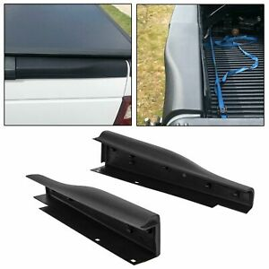 Pair Black Flex Step Tailgate End Cap Molding Trim For Ford Super Duty F250 350