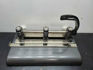 Vintage Master Products 3 Hole Punch Mfg Co Series 1000 Heavy Duty Usa Office