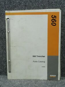 Oem Factory Case 560 Trencher Parts Catalog Manual 8 9201