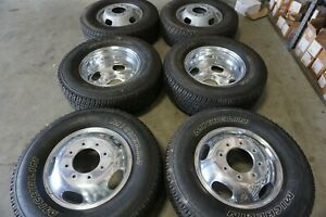 17 Ford F350 Dually Factory Oem Polished Wheels Rims Michelin Tires 10094 10095