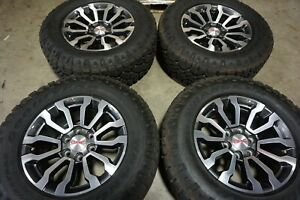 18 2019 Gmc Sierra 1500 Factory Oem Gray Machined Wheels Rims Tires Yukon 5909