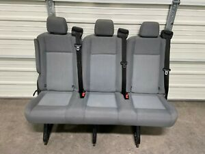 2015 2020 Ford Transit Oem 2nd Row Seat Gray Cloth 55 Inch Triple Seat