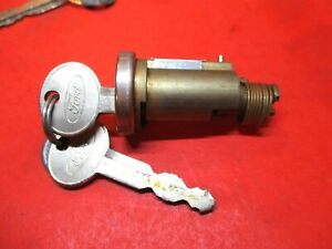 Ford Falcon Ranchero Thunderbird 1965 1972 New Trunk Lock Cylinder W Keys