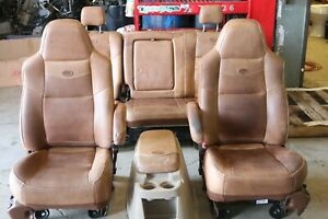 1999 2010 Ford F250 F350 F450 King Ranch Super Duty Front Rear Seats console
