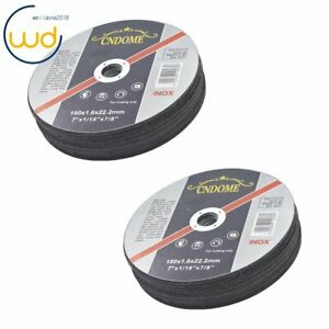 50 Pack 7 x1 16 x7 8 Cut off Wheel Metal Stainless Steel Cutting Discs