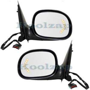 F Series Truck Power Non Heat Turn Signal Glass Mirror Left Right Side Set Pair
