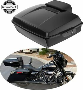 Vivid Black Chopped Tour Pak W Black Latches For 2014 Harley Touring