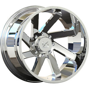 Set Of 4 26x14 Chrome Arkon Off Road Lincoln Proper Directional 8x170 81 Rims