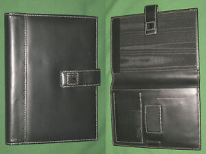 Compact Dooney Bourke Spiral Cover Black Leather Planner Note Pad Binder