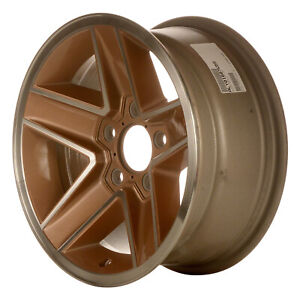 Aluminum Wheel 15x7 Machined And Gold 5 Slot 5x4 75 Bolt Pattern