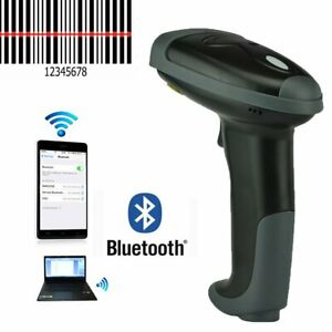 Automatic Bluetooth Barcode Scanner Wireless Laser Usb Scan Gun Label Reader Us