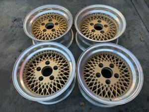 14 Mesh Gold Wheels Rims Alloy Mag American Racing 92 Enkei