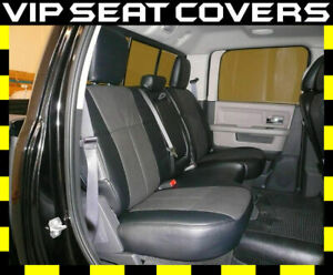 Clazzio Synthetic Leather Seat Covers For Dodge Ram Front Rear