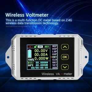 Multi function Wireless Color Lcd Dc Digital Volt Amp Meter Capacity Counter Set