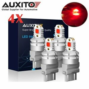Auxito 3157 3156 Red 5050smd Led Brake Tail Parking Light Bulb Canbus Error Free