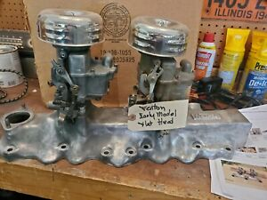 Ford Flathead Fenton Vintage Multi Intake Manifold And Carbs