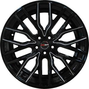 4 Flare 20 Inch Black Mill Rims Et20 Fits Toyota Camry 4 Cyl 2012 2019
