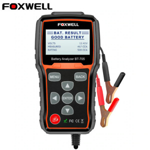 Foxwell Bt705 Auto Truck Car Battery Load Tester Charging System100 2000 Cca