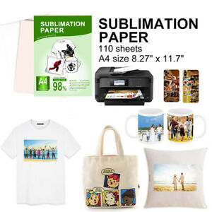 110 Sheet A4 Dye Sublimation Transfer Paper For Epson Hp Canon Diy Mugs T shirt